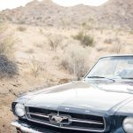 vintage ford mustang engagement shoot