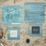 water inspired wedding stationery