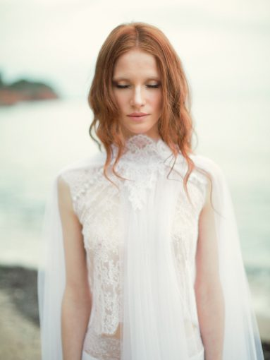 details of the lace and textures of this weeding dress