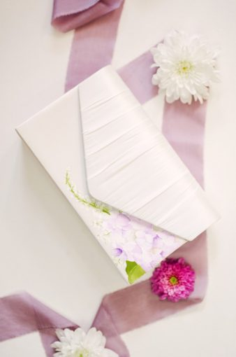 hand painted elizabeth rose bridal clutch hand bag