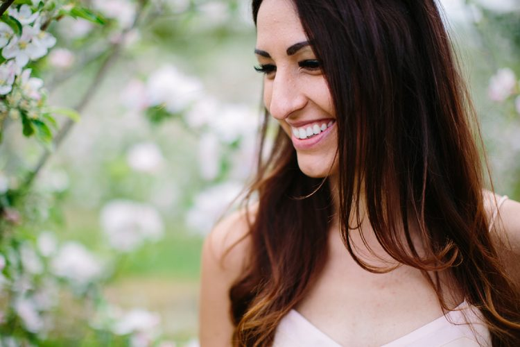 beautiful glowing bride to be portrait