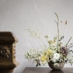 jay archer floral design using a mix of natural wild flowers to add to the meadow feel of this wedding