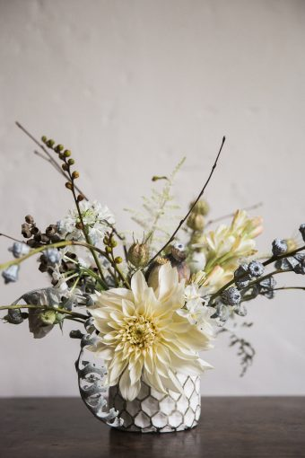 foral centrepiece created by jay archer floral design mixing wild flowers perfect for an english country wedding