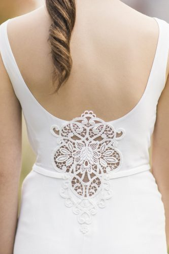 the beautiful detailing of this wedding dress from luellas bridal