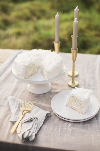 a table with cake by natural cake company