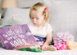 the lost my name picture book with a little girl in the background