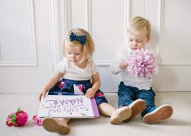 children reading the lost my name picture book together