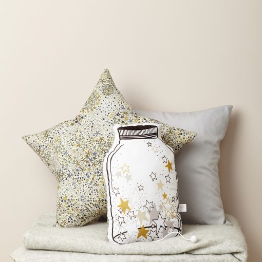 different cushions for nursery ideas such as a jar of stars or a liberty print star cushion