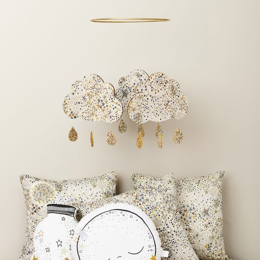 liberty print cloud mobile and collection of cushions
