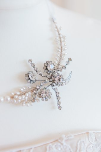 pearl and crystal bridal accessory