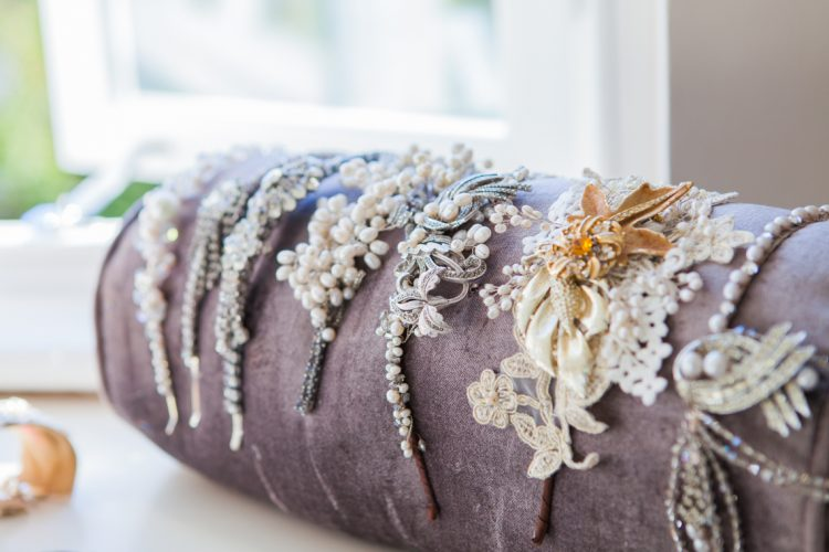a whole range of bridal headpieces created by Victoria