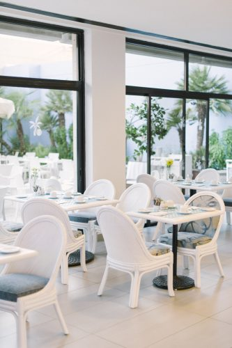 stylish restaurant at the The Palm Beach Hotel & Bungalows