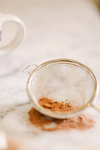 sieve with coco powder