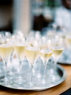 glasses of champagne for wedding guests to enjoy