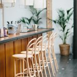 stylish bar and bar stools