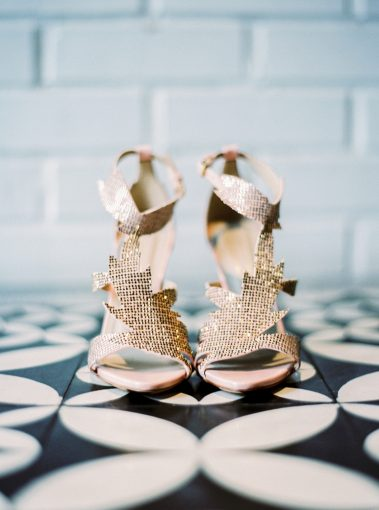 sparkly statement wedding shoes