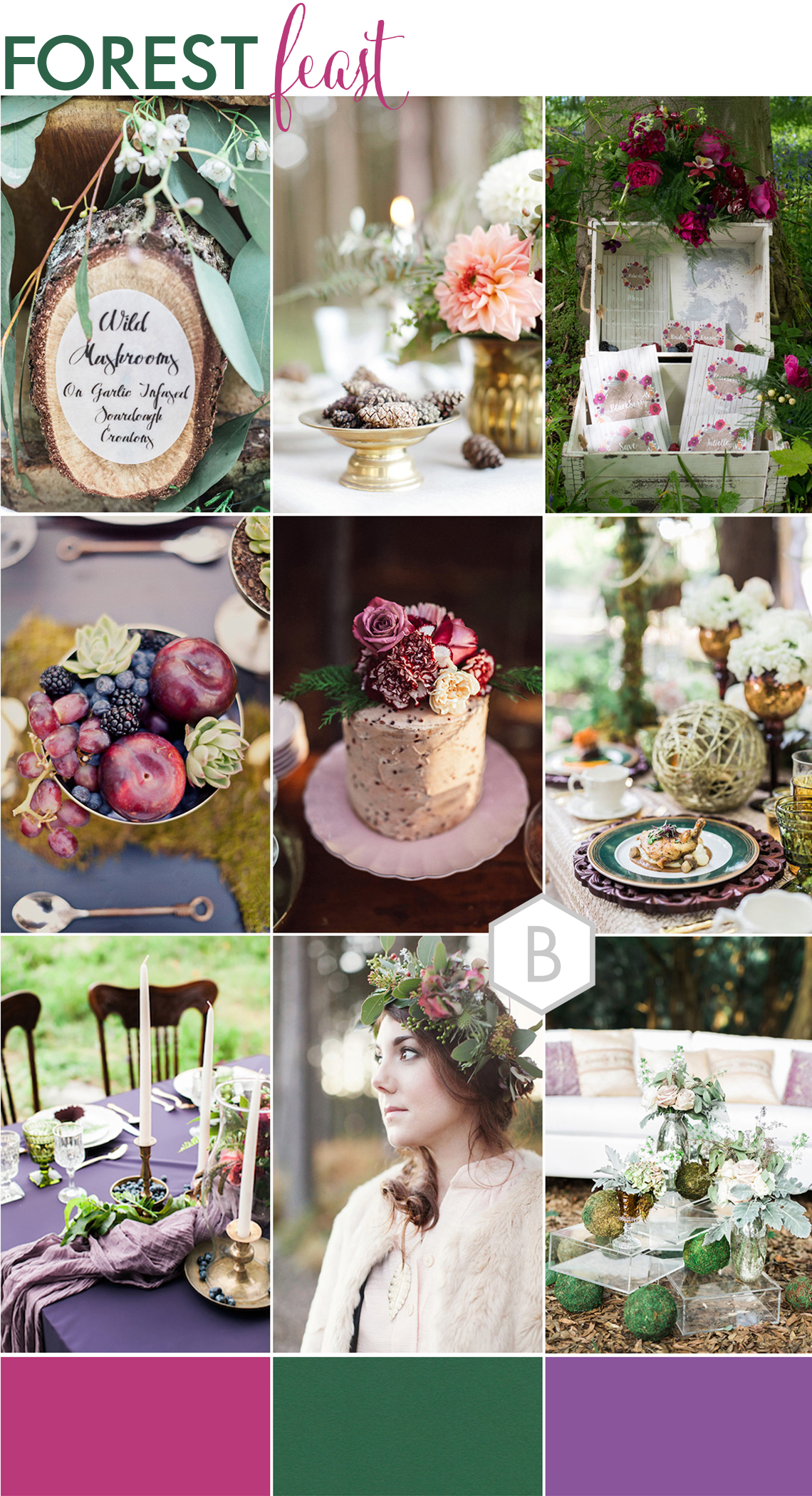 montage of wedding inspirations for an Autumn Halloween wedding style