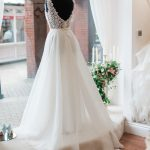 wedding dress in the window display