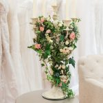 floral display at the Fross Wedding Collections boutique
