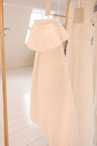 beautiful bardot neckline wedding dress from the whistles wedding collection