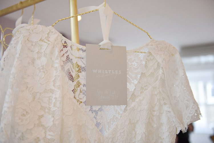 lace wedding dress by whistles with their chic grey label and logo