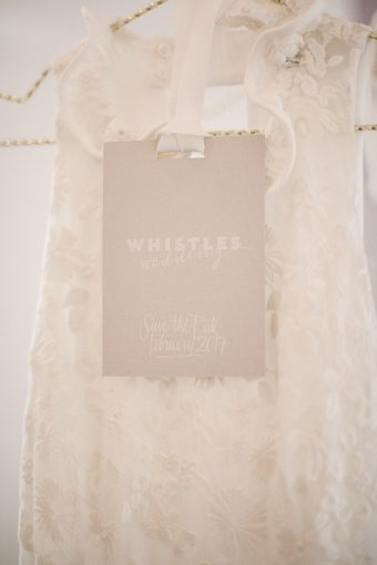halterneck wedding dress by whistles with the new branding and label