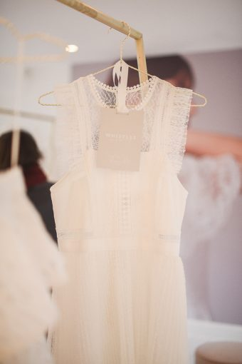 beautifully detailed wedding dress by whistles