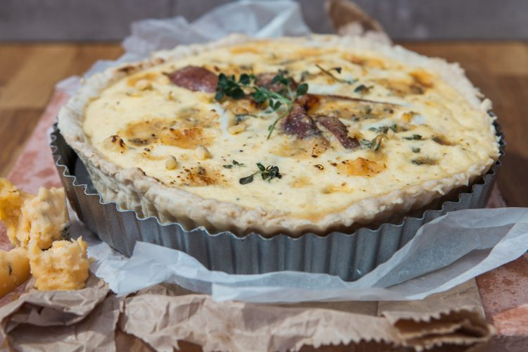 Rustic pear and roquefort quiche weddings for Luxury quiche