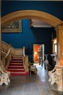 magnificent hallway and staircase in the hotel