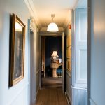 light filled hallway with character features