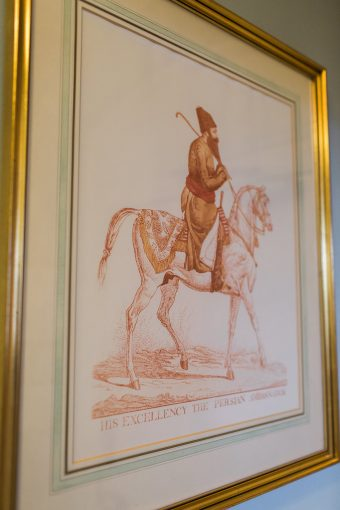 traditional artwork on display in the hotel