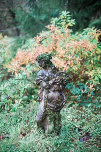 ornate statue in the garden