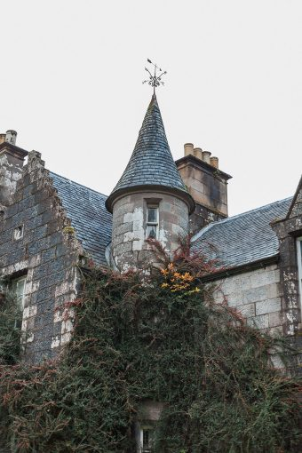 one of the turrets of the hotel