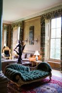 elegant drawing room with antique traditional furniture