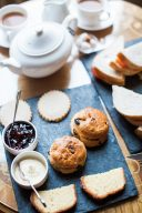 afternoon tea with scones and jam