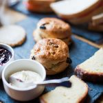 scones and cream for afternoon tea
