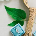antique hand mirror and mrs ring box with lovely engagement ring