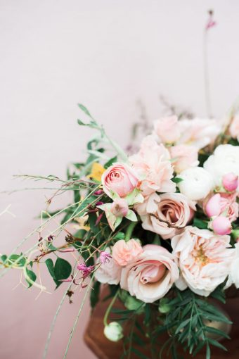 arrangement of pink florals