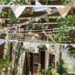 details of pastel coloured bunting