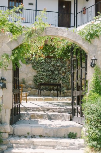 arched entrance to the country house