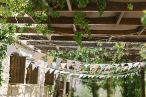 rows of bunting