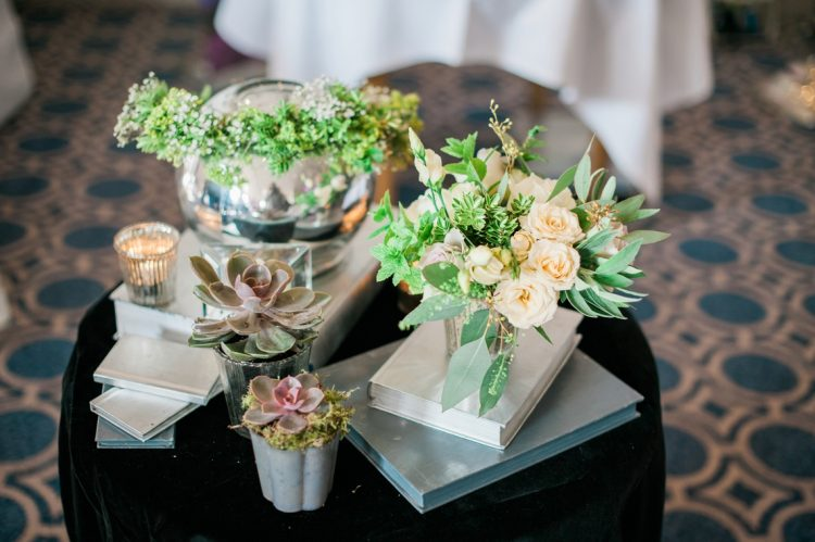 floral arrangements with roses and succulents