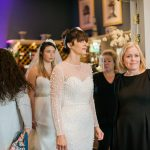 models wearing wedding dresses ready for the bridal show
