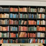 library room decor with bookshelves