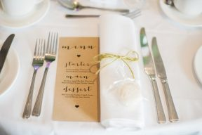 table setting with kraft stationery menu