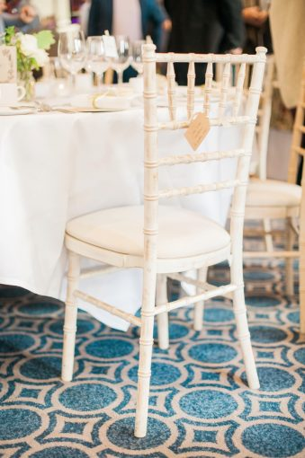 cream bamboo style wedding chairs