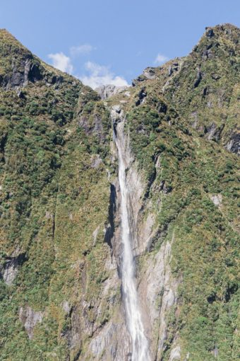 New Zealand huge waterfall