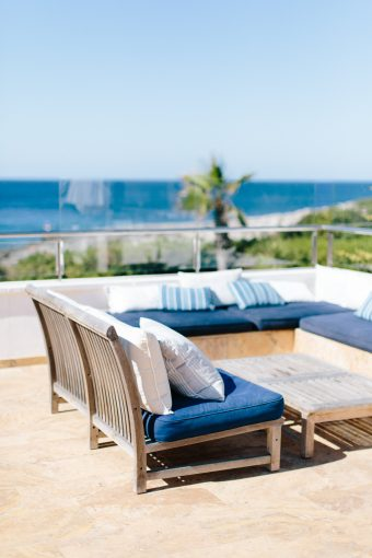 outdoor garden furniture at the villa