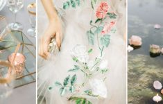 collage of images for a garden luxe wedding moodboard