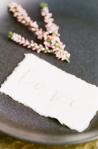 hand torn paper stationery